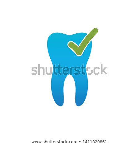 医療 · 歯の手入れ · ロゴ · 歯 · チェック · マーク - ストックフォト © kyryloff