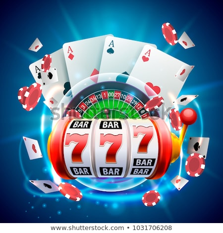 Big win slots red 777 banner casino on the purple background. Vector illustration Stock photo © MarySan