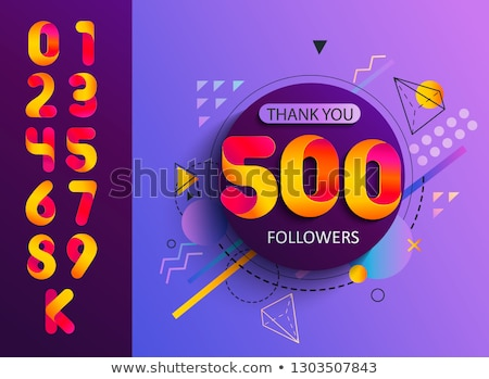 10k social followers and subscribers template Stock photo © SArts