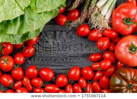 Verde orgánico espárragos gris Foto stock © artjazz