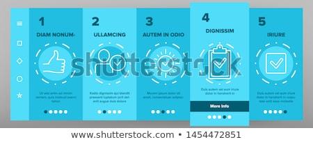 Elismert elemek vektor mobil app oldal Stock fotó © pikepicture