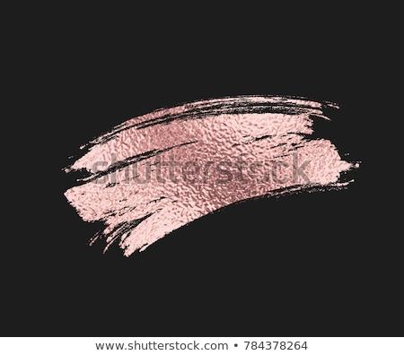 Zwarte gouden inkt splatter ontwerp abstract Stockfoto © SArts