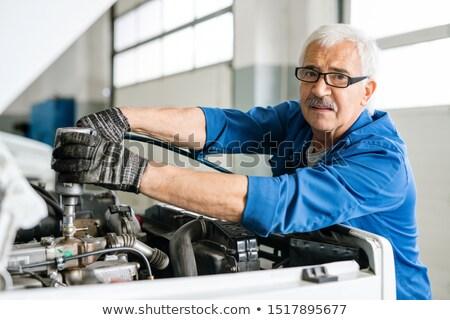опытный старший технической инженер очки глядя Сток-фото © pressmaster