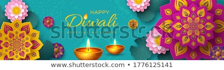 beautiful diwali banner with diya decoration design Stock photo © SArts