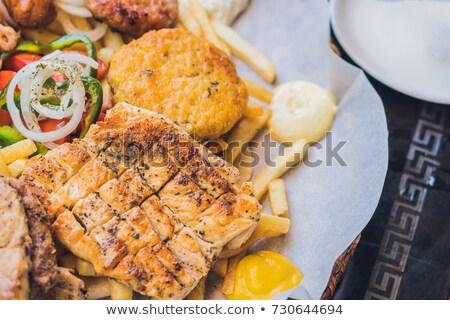 grego · restaurante · típico · Grécia · praia · casa - foto stock © galitskaya