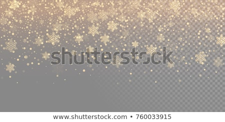 Gold Christmas overlays, vector design elements Stock photo © beaubelle