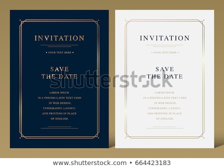 Invitation card vector design - vintage style Stock photo © blue-pen