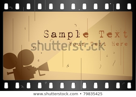 Film Strip For Cinema Projector Color Vector Stock photo © pikepicture