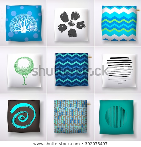 Blue Sofa with Pillows Isolated Furniture Vector Stock photo © robuart