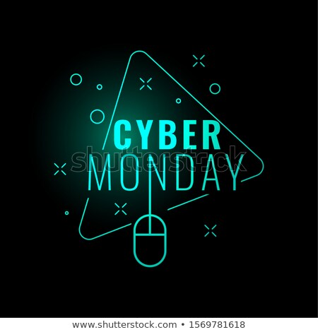 cyber monday stylish digital glowing background design stock photo © SArts