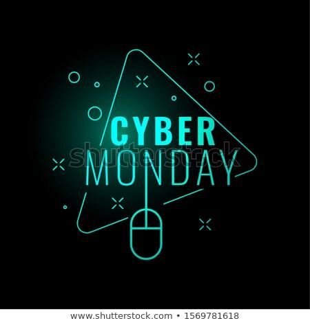 cyber monday stylish digital glowing background design Stock photo © SArts