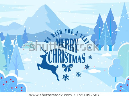Winter Landscape, Wishing Merry Christmas Caption Stock photo © robuart