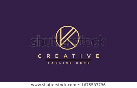 Creative Initial Letter K Logo Stock photo © krustovin