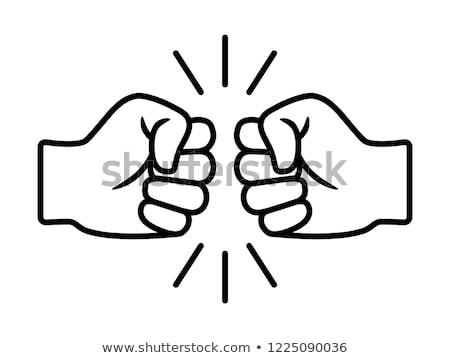 Fist Bump Concept Vector Stock photo © THP