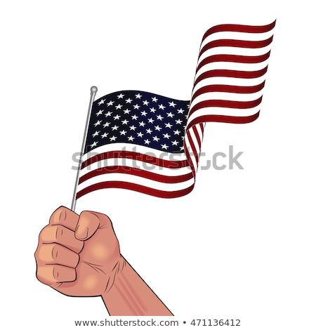 Bandera de Estados Unidos puno aislado fresco EUA bandera Foto stock © jeff_hobrath