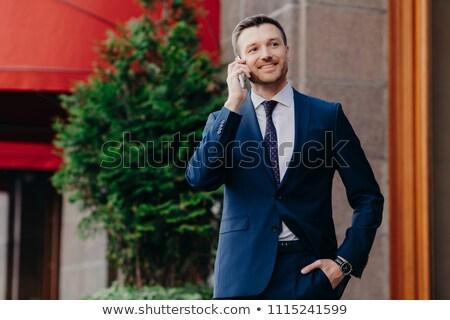 оптимистичный мужчины владелец бизнеса компания элегантный Сток-фото © vkstudio