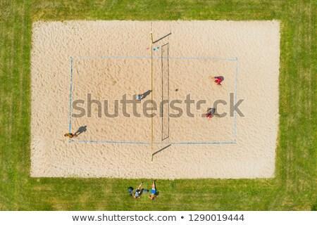 ビーチ バレーボール ピッチ 人 準備 ストックフォト © lightpoet