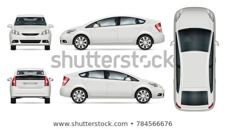 Samochodu taksówka widoku człowiek jazdy nowoczesne Zdjęcia stock © jossdiim