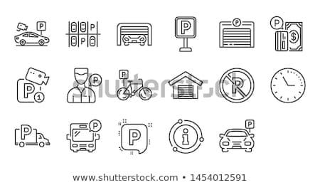 Geld parkeren icon vector schets illustratie Stockfoto © pikepicture