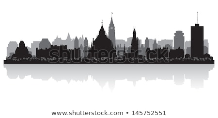 Otawa preto e branco silhueta simples turismo Foto stock © ShustrikS