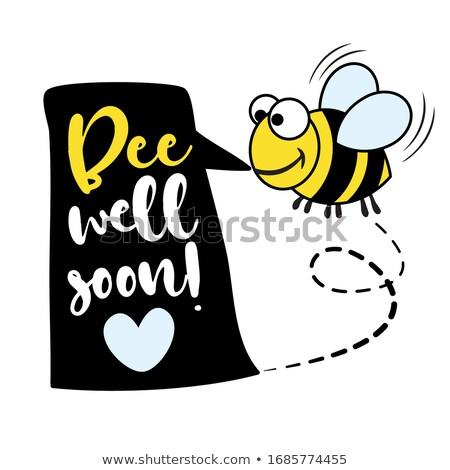Bee goed spoedig strijd coronavirus stoppen Stockfoto © Zsuskaa