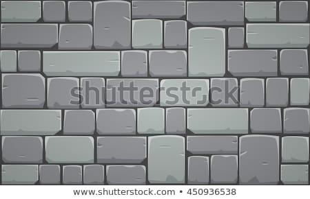 Stone Wall. Vector Illustration. Stock photo © ShustrikS