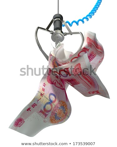 Yuan Notes In A Robotic Claw Stock photo © albund
