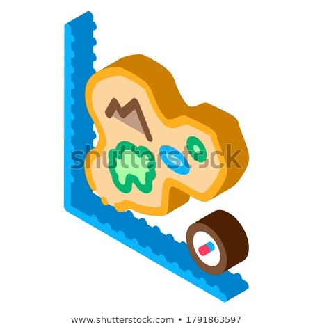 Pracownika krajobraz izometryczny ikona wektora Zdjęcia stock © pikepicture