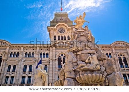 town square Piazza Unita in Trieste, Italia Stock photo © vladacanon