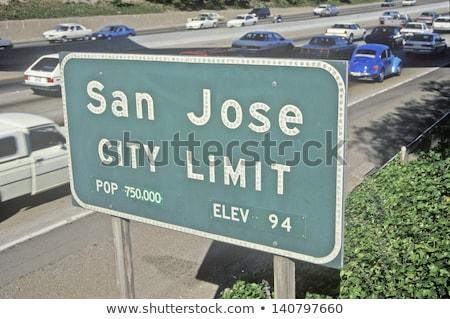 Californië wegteken USA wolk straat teken Stockfoto © kbuntu