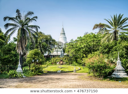 buddhist statue in phnom penh cambodia garden Stock photo © travelphotography