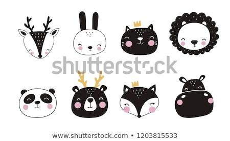 Cute black alphabet Stock photo © Elmiko