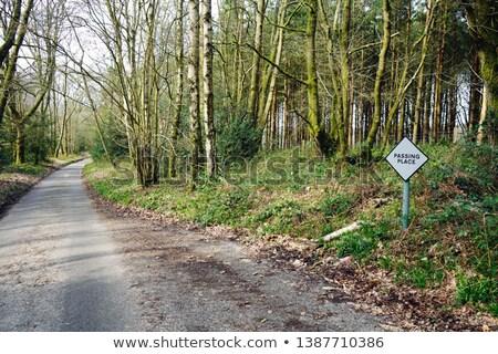 yer · yol · manzara · imzalamak · yol · kenarı · manzaralı - stok fotoğraf © Imagix