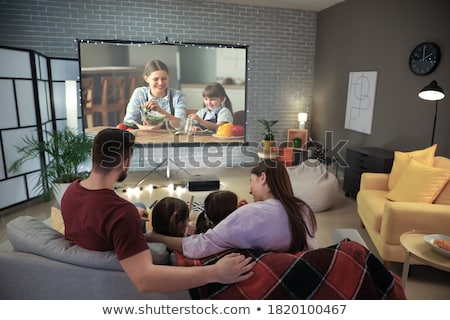 Home-cinema modern Stock photo © ozaiachin