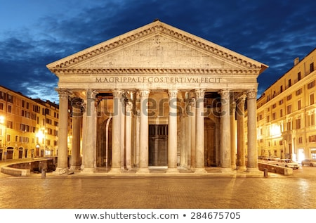 the facade of the pantheon stock photo © ca2hill