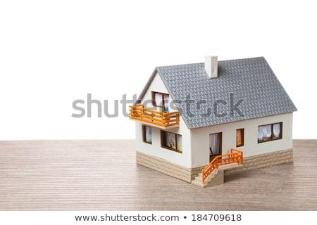 дома игрушку Windows строительство домой синий Сток-фото © Paha_L