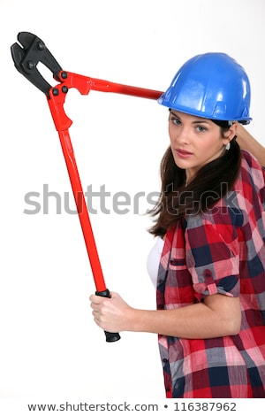 Worker with a pair of bolt cutters Stock photo © photography33