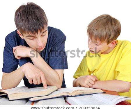 explicação · professor · retrato · alunos · olhando · laptop - foto stock © photography33