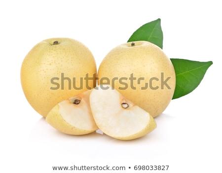 Pera blanco frescos grupo Asia Foto stock © posterize
