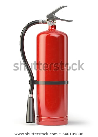 fire extinguisher on white Stock photo © feedough