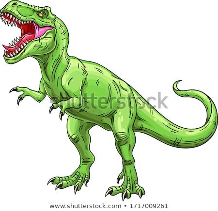 Dinosaures vecteur comme chien de garde herbe nature Photo stock © pavelmidi