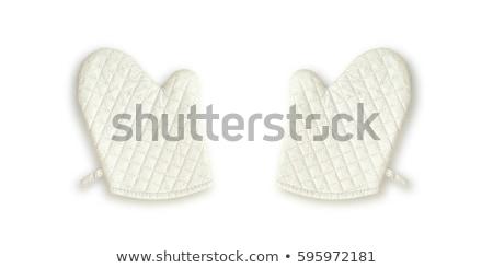 Kitchen glove on a white background Stock photo © ozaiachin