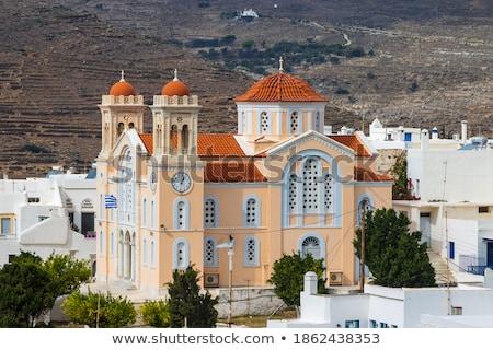 Church at the Pirgos village Stock photo © ajlber