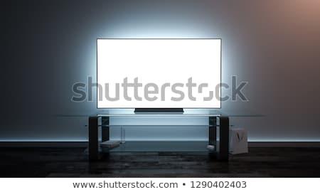Lapos kijelző tv fekete copy space televízió technológia Stock fotó © Saphira