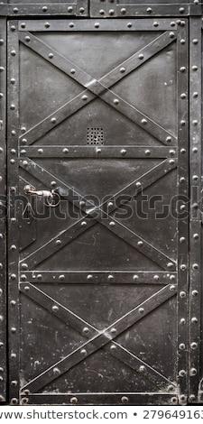 Stockfoto: Slot · ijzer · deur · abstract · ontwerp · verf