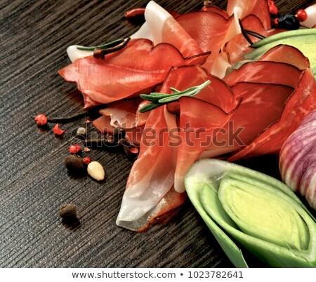 Jamon, Leek and Garlic Stock photo © zhekos