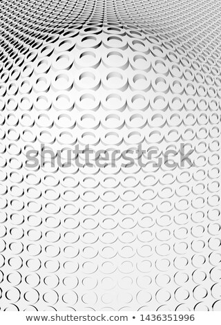 Volumetric pattern - gray spheres and squares Stock photo © pzaxe