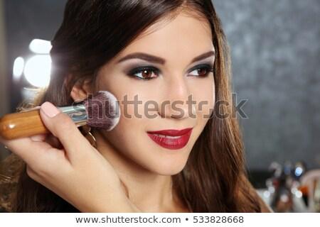kadın · dudaklar · ağız · genç - stok fotoğraf © anna_om