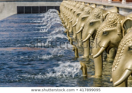 elephants on hinduism temple Stock photo © Mikko