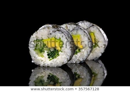 Stok fotoğraf: Vejetaryen · sushi · Çin · yemek · çubukları · gıda · restoran · Asya